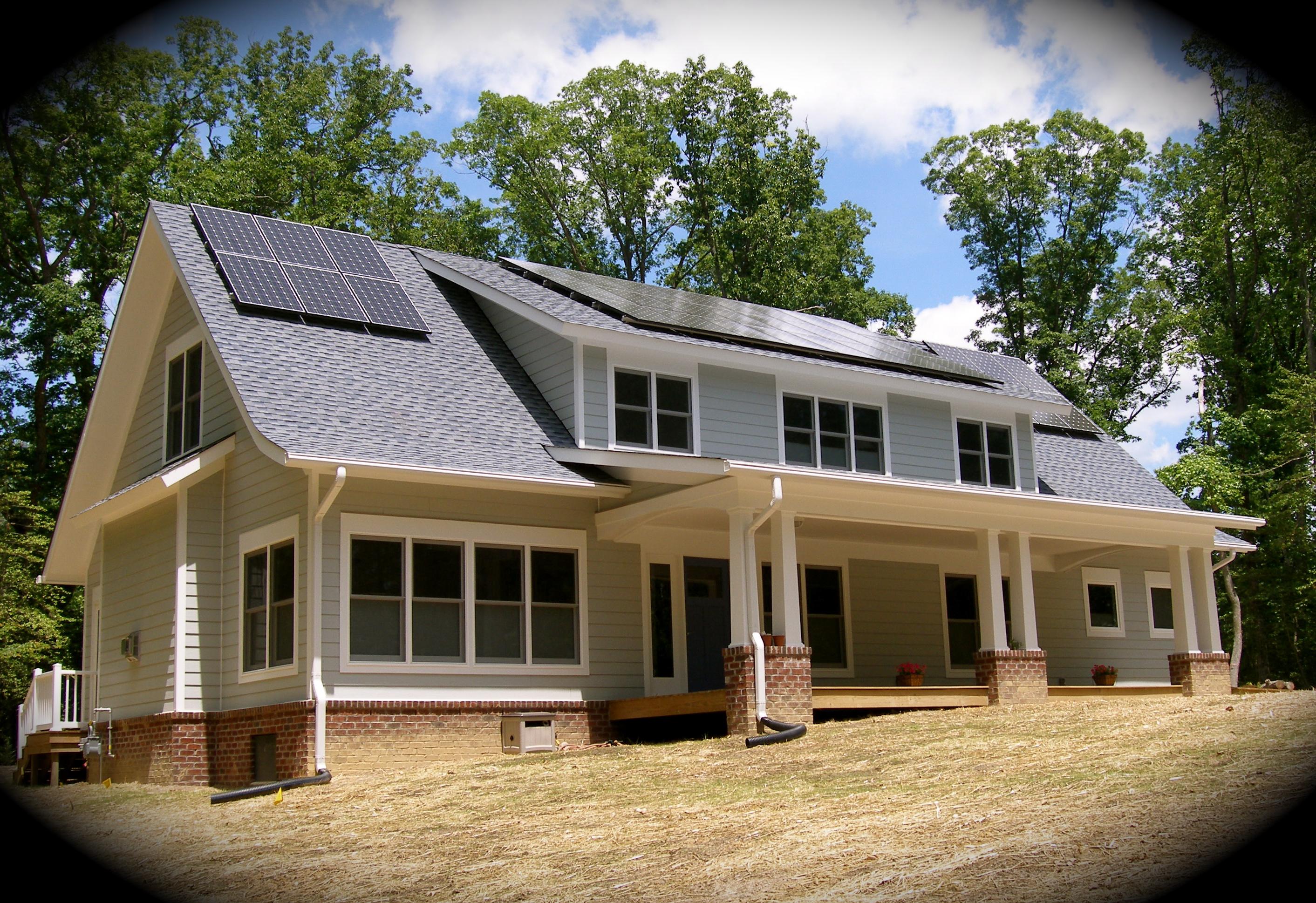 Franck net-zero Solar Home, Williamsburg