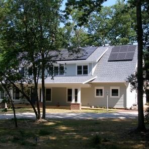 Franck net-zero Solar Home, Williamsburg, VA