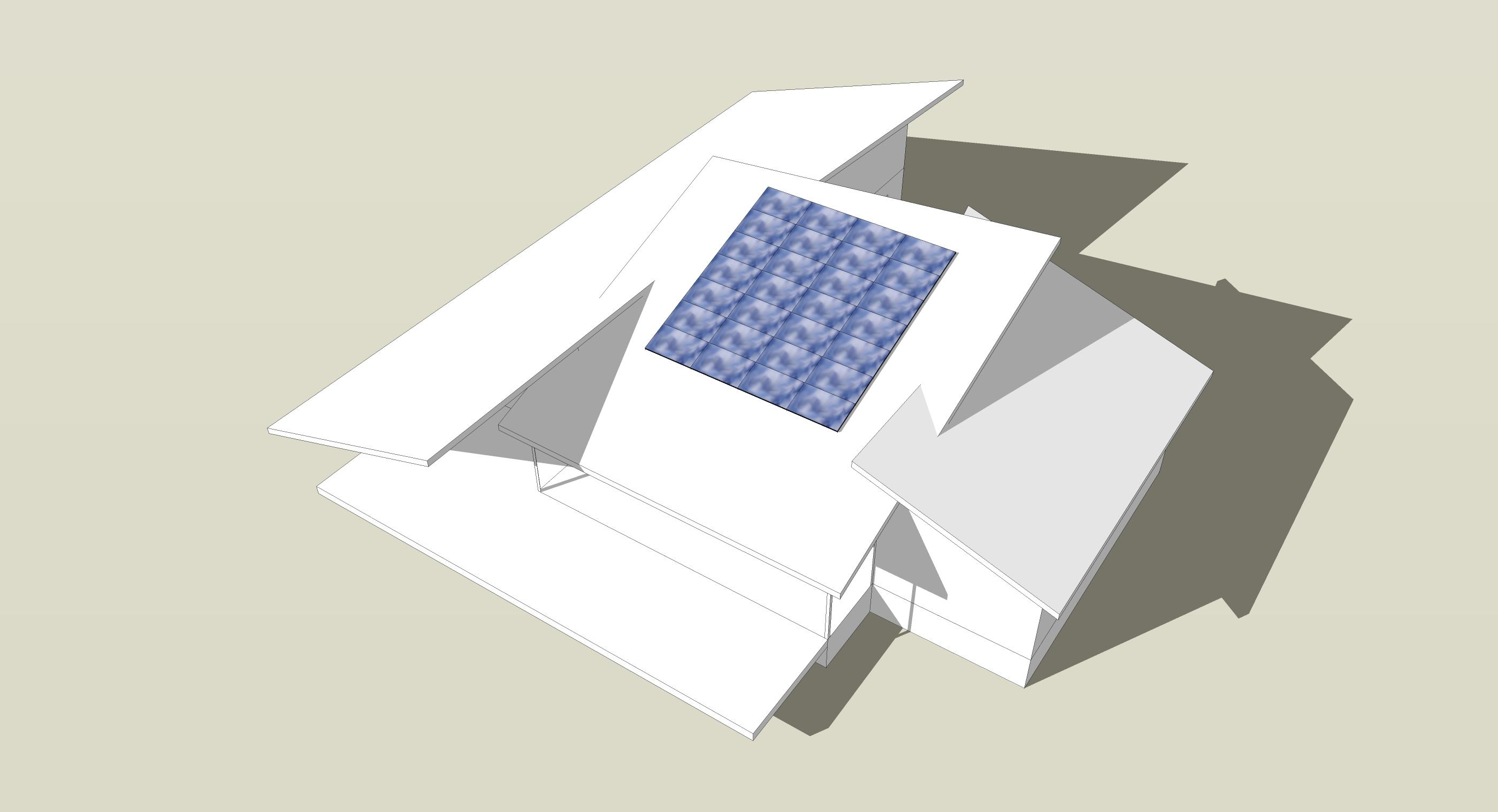 Modern Solar House Form Study